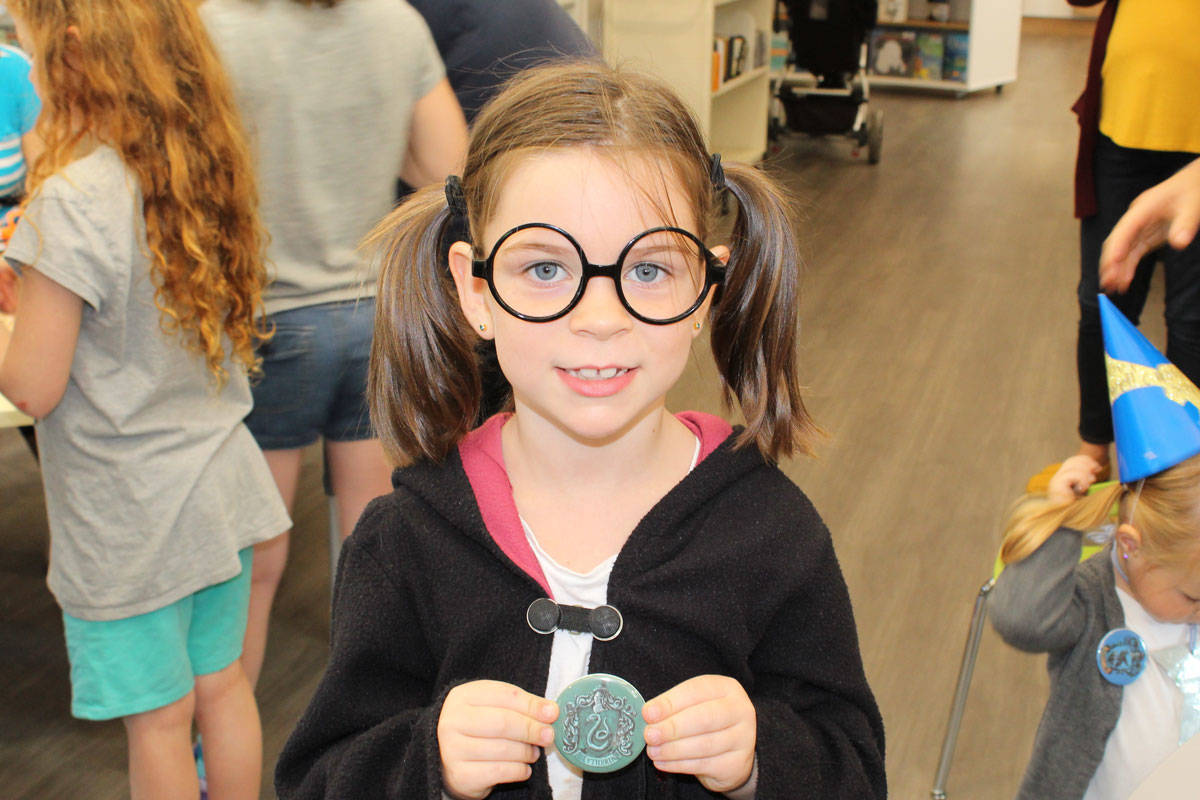 Magical birthday party for J.K. Rowling at Sidney/North Saanich Library