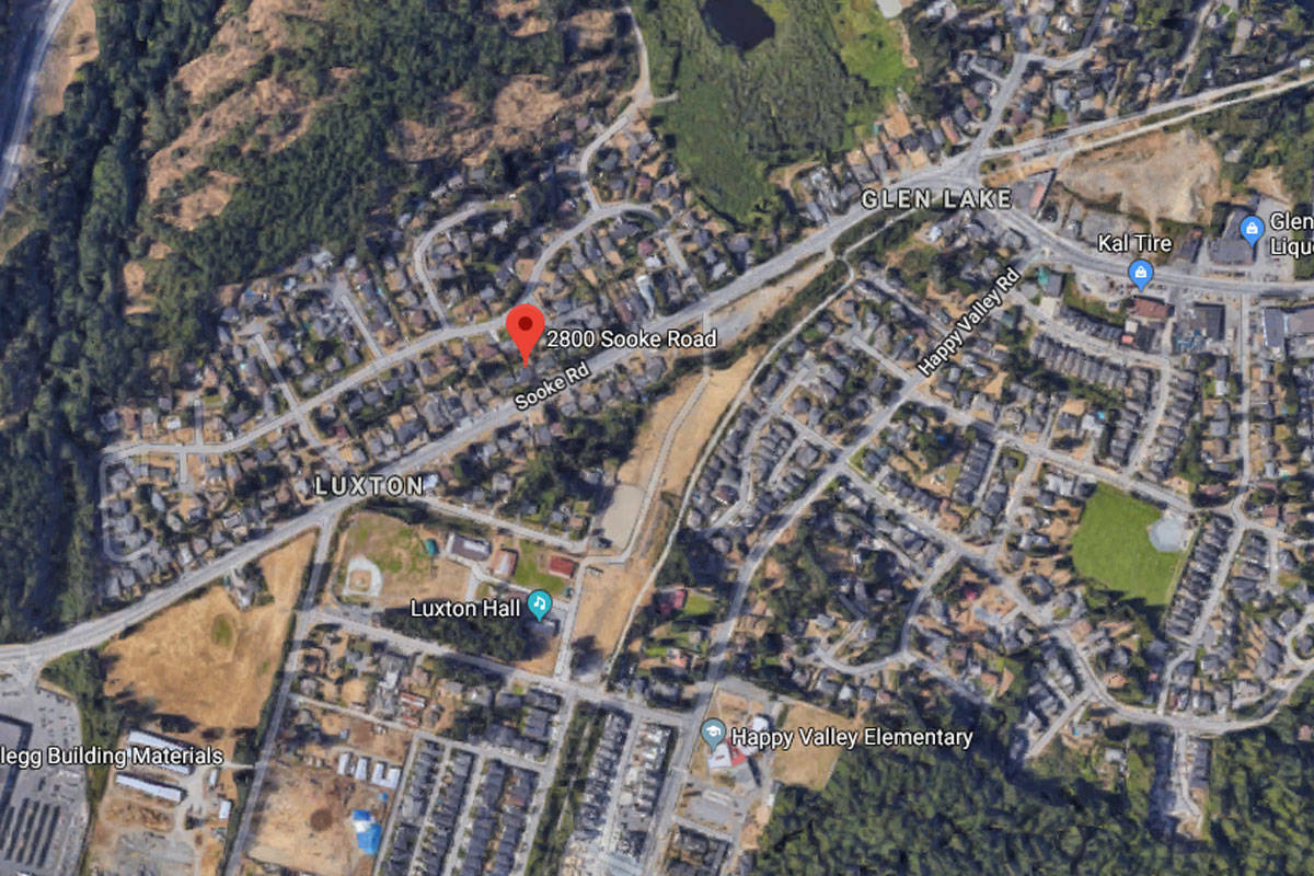 Downed power line closes portion of Sooke Road in Langford