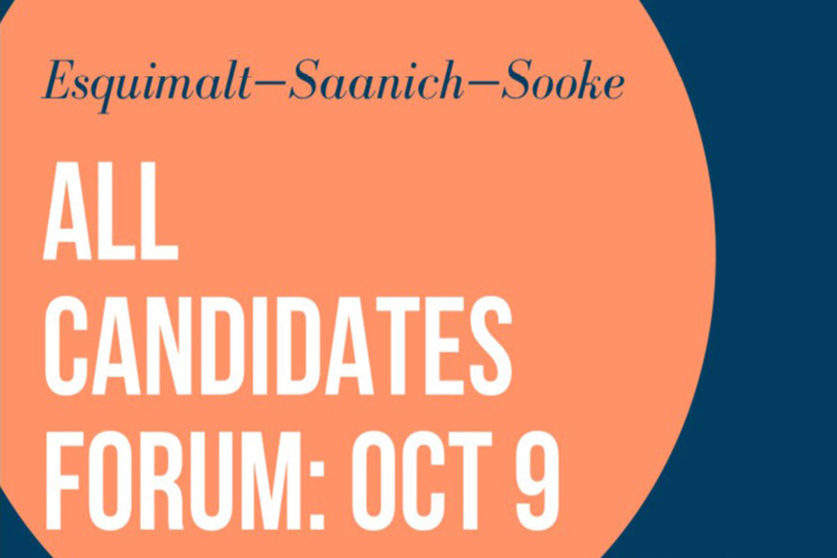 Esquimalt, Saanich, and Sooke invited to federal candidate forum