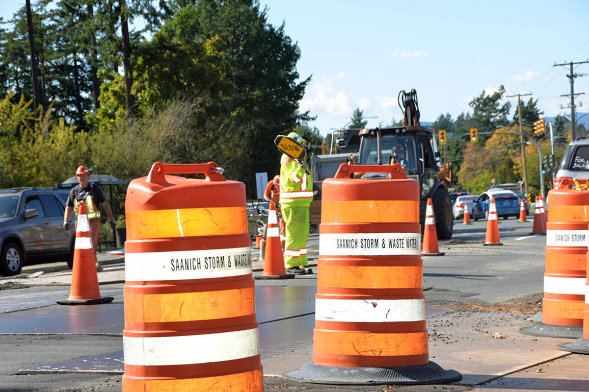 Delays expected on Interurban Road due to wastewater treatment project in Saanich