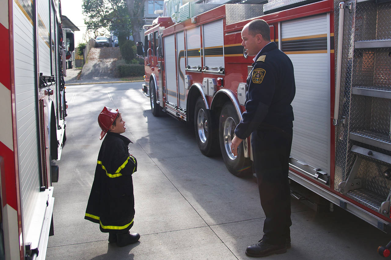 Five-year-old Esquimalt boy becomes fire chief for the day
