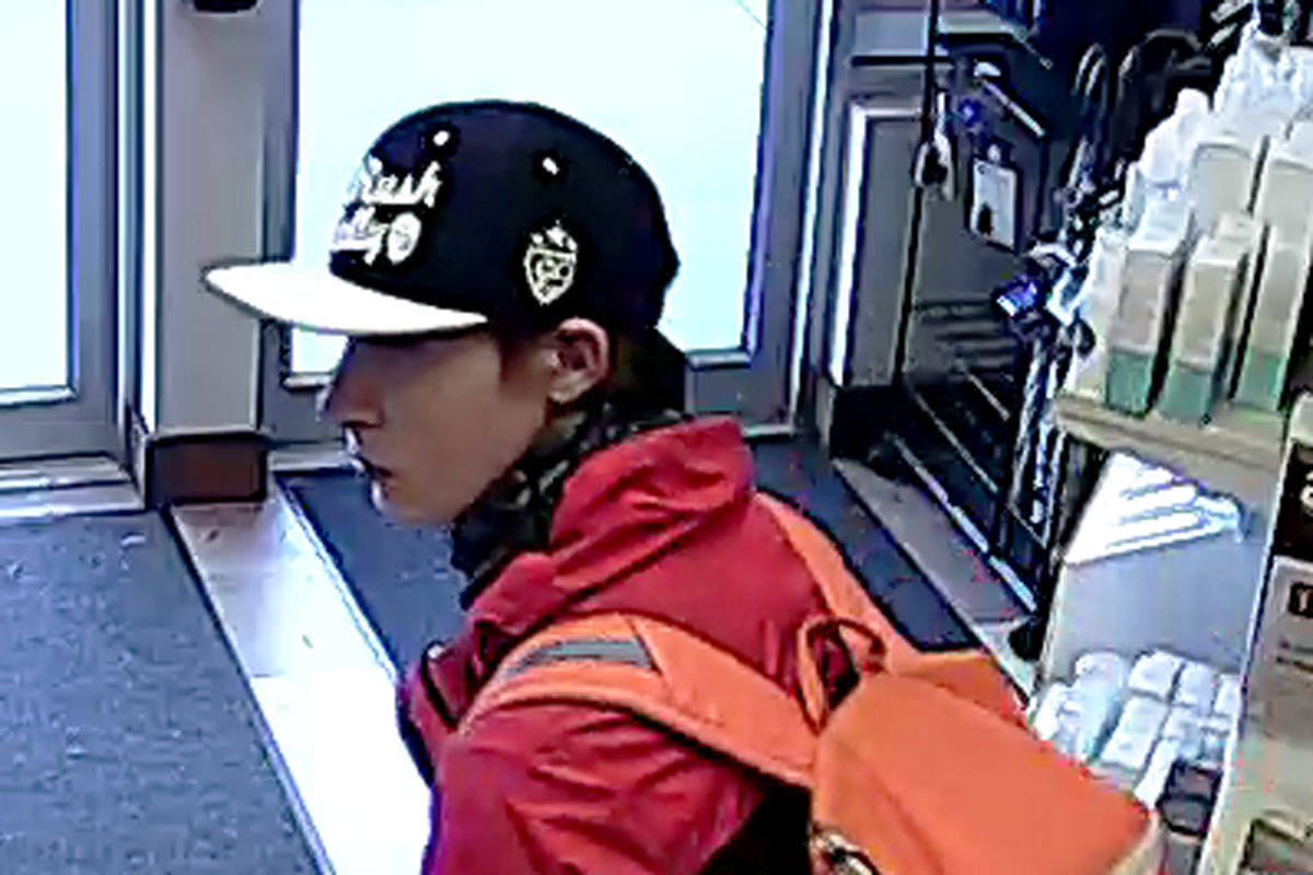 VIDEO: Saanich police search for man suspected of stealing poppy donation boxes