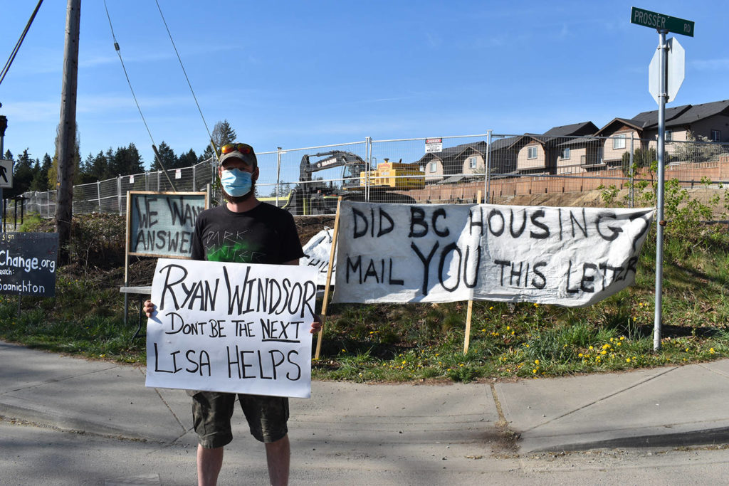 Central Saanich residents protest supportive housing project - Oak Bay News