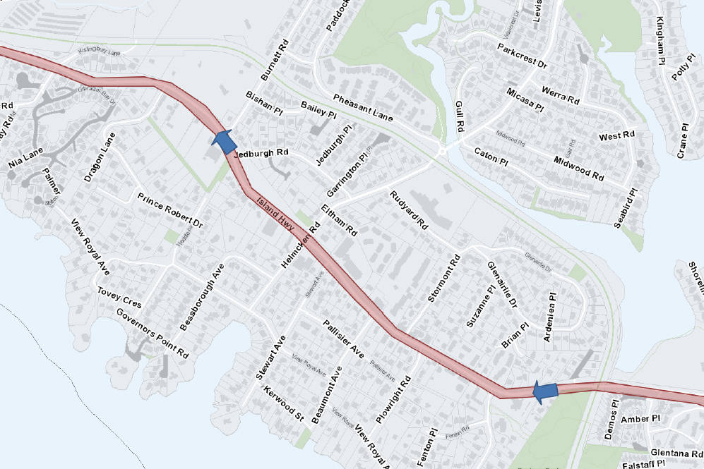 Work on Island Highway in View Royal to limit traffic to single lane, alternating - Oak Bay News